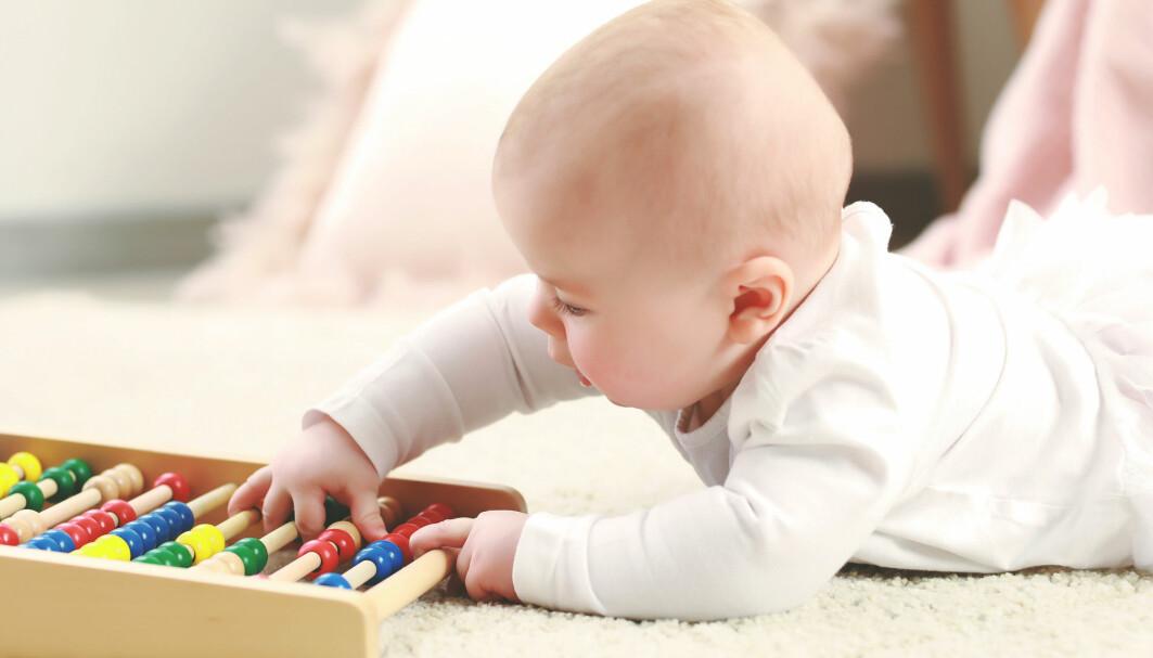 Hvor tidlig utvikler barn en forståelse av mengder?