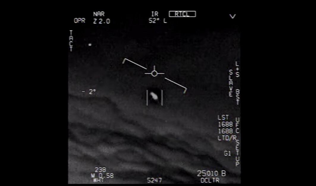 Bildet er hentet fra en video som ble tatt av amerikanske jagerpiloter i 2015.