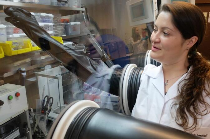 Carmen Cavallo og kollegaene hennes er den første lab'en i Norge som prøver å lage kalsiumbatterier.