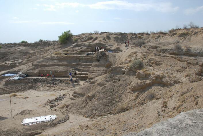 Utgravningsstedet i det nordlige Kenya.(Foto: Matthew Bennett, Bournemouth University)