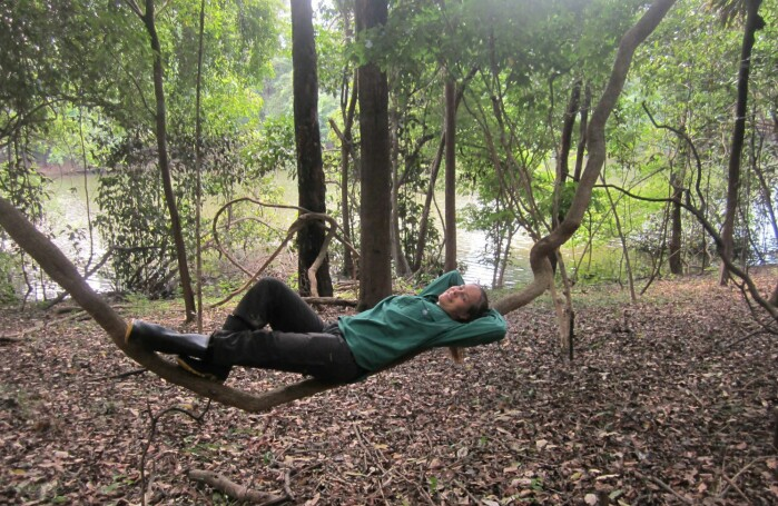 Natural relaxation: Even a busy PhD candidate have to take a breather once in a while.
