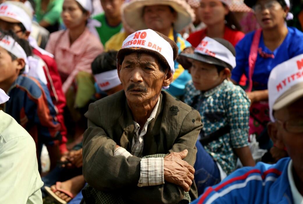 Da kinesiske selskaper bygde Myitsone-demningen i Myanmar, møtte prosjektet massiv motstand.