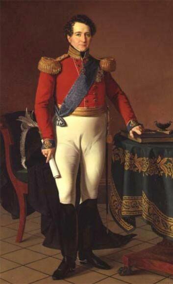 Christian Frederik, her som Kong Fredrik VII av Danmark. (Illustrasjon: Wikimedia Commons)