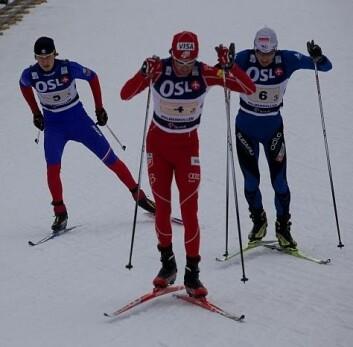 Det holder ikke bare med muskelkraft for å gå fort på ski. Smørejobben i forkant er like viktig. Fra prøve-VM på ski i Holmenkollen 2010 (Foto: OSL2011)