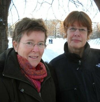 Beatrice Halsaa og Anne Hellum. (Foto: Siri Lindstad)