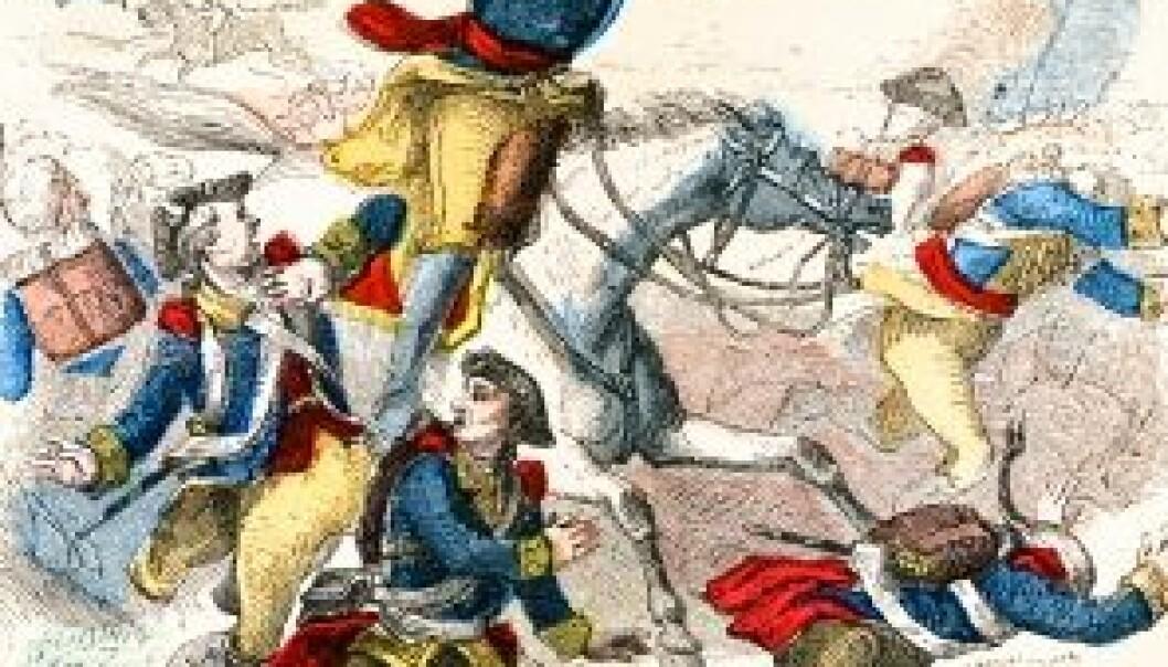 George Washington leder troppene under den amerikanske frigjøringskrigen.(Ilustrasjon: iStockphoto)