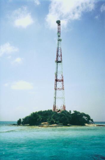 Radiosendere krever lite vedlikehold og egner seg godt på øde steder. Foto: Ceragon