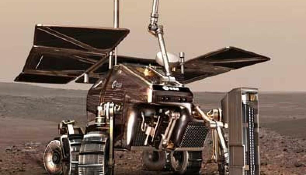 Den europeiske ExoMars roveren. Illustrasjon: ESA