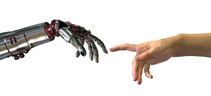 I fremtiden vil elektriske signaler direkte fra nerveceller i hjernen kunne brukes til å styre robotarmer som erstatter dagens proteser. Foto: Shutterstock