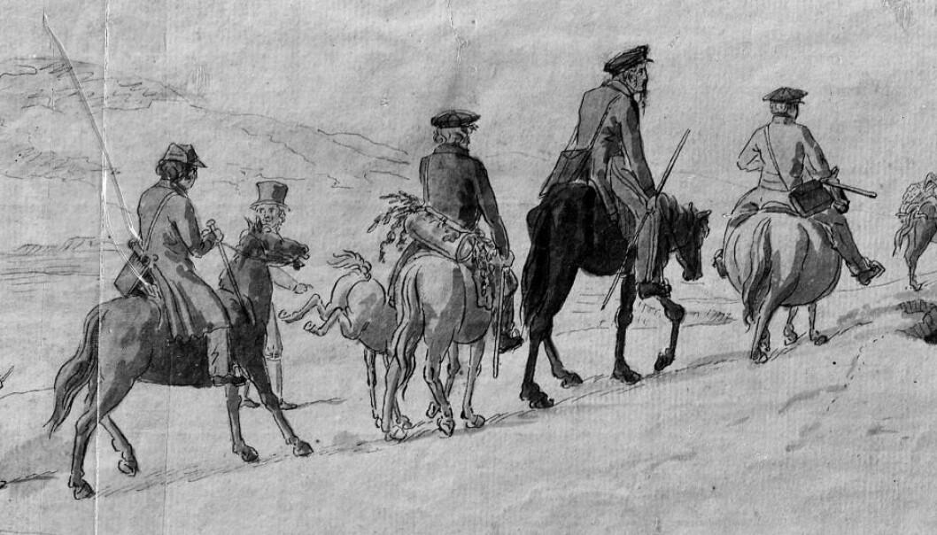De norske hestene for 200 år siden var ofte små og sterke.