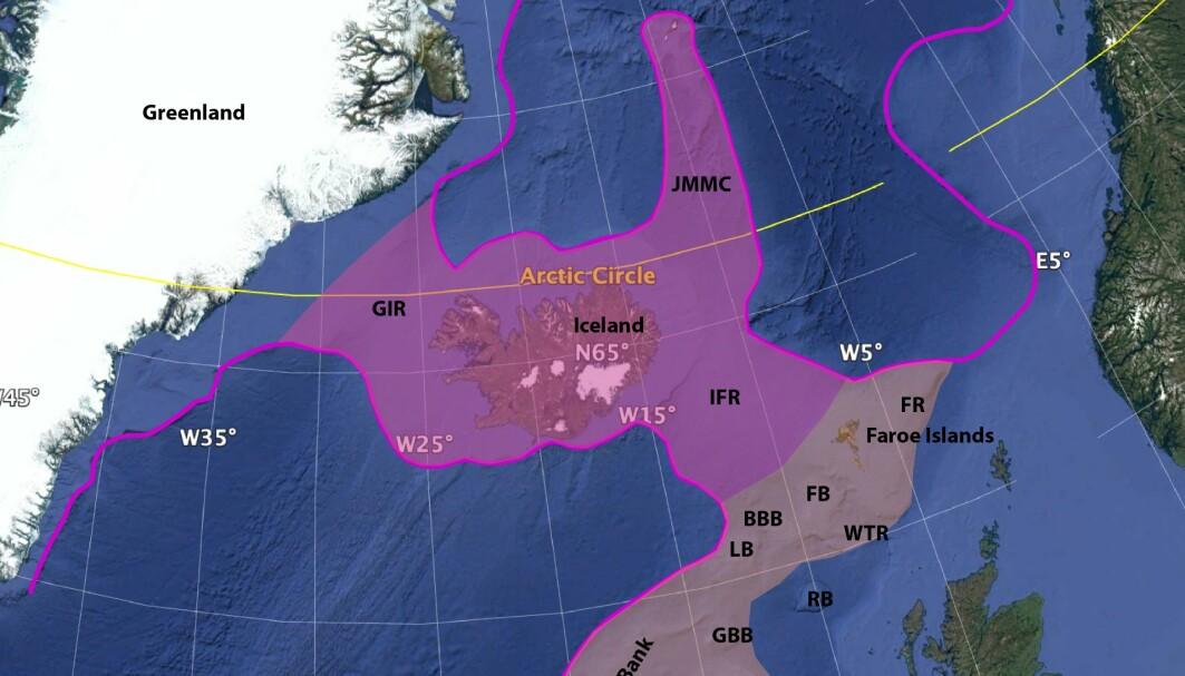 Forskerne bak en ny artikkel mener det kan ligge mye kontinentalskorpe i dette området.