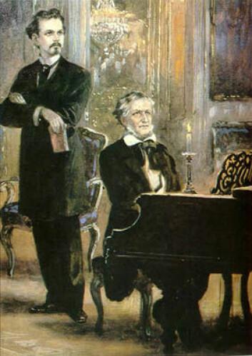 """""""Ludwig II har også gått inn i musikkhistorien som Richard Wagners store velgjører. Å sponse Wagners maratonoperaer var ingen billig affære."""""""