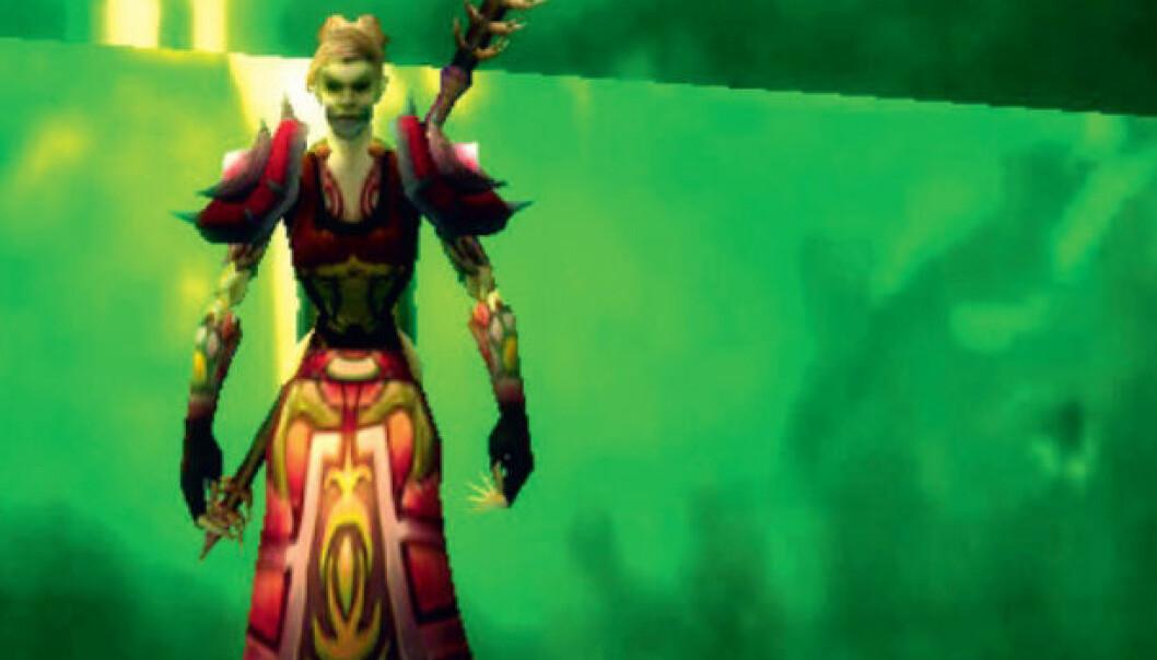 Spillforsker Hilde G. Corneliussen spiller naturlig nok også World of Warcraft. Her er hennes spillfigur. (Bilde: Blizzard)
