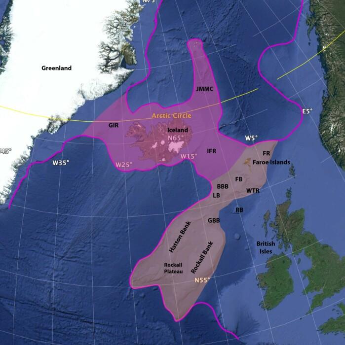 Forskerne foreslår at Icelandia dekker et område på 600 000 km2 eller 1 000 000 km2 hvis man tar med områdene vest for Storbritannia.