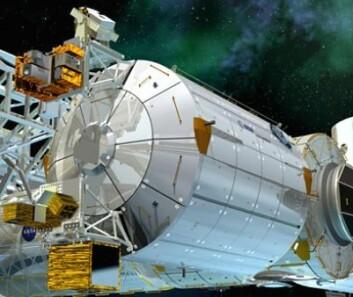 Romlaboratoriet Columbus. (Foto: ESA)