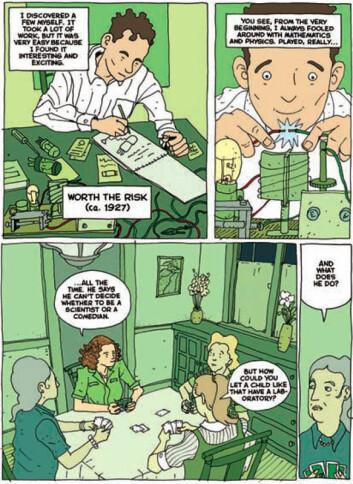 Side fra tegneserien Feynman av Jim Ottaviani (Bilde: Jim Ottaviani, Creative Commons, se lisens)