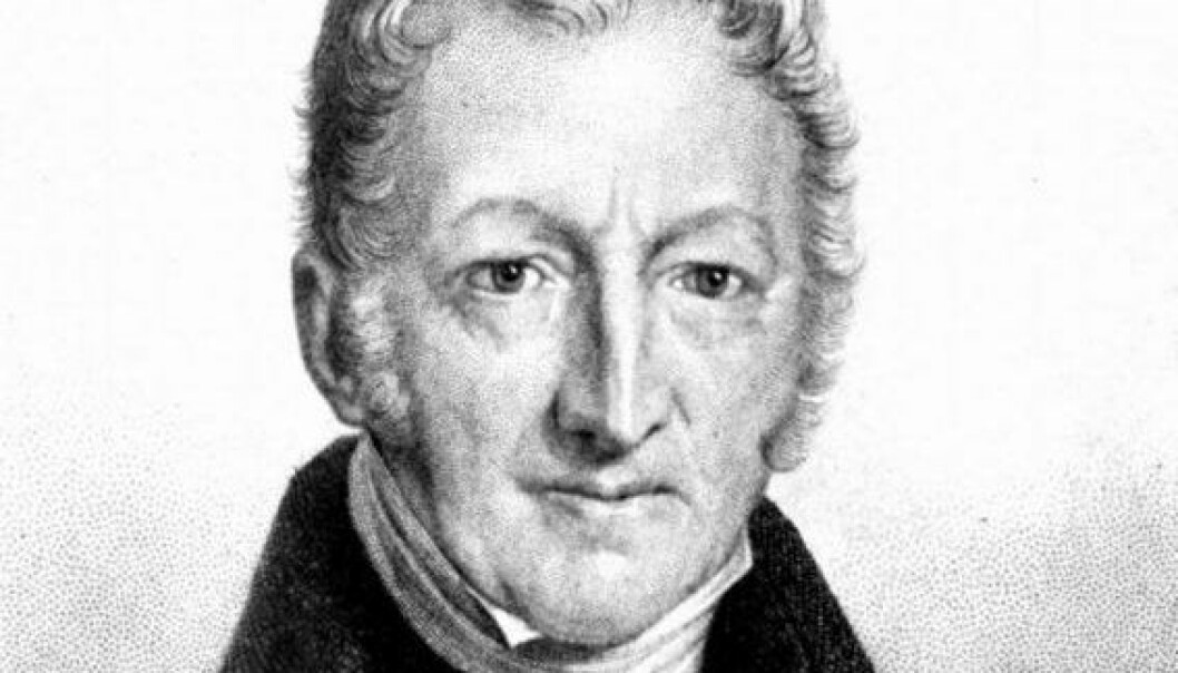 Thomas Robert Malthus. (Illustrasjon: Clipart.com)