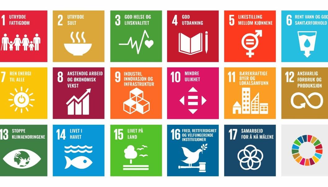 Alle målene skal nås innen 2030.