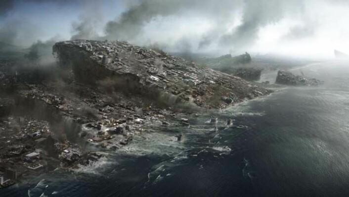 """Fra en scene i filmen """"2012"""", som har premiere på fredag denne uken. (Illustrasjon: Walt Disney Studios Motion Pictures Norway)"""