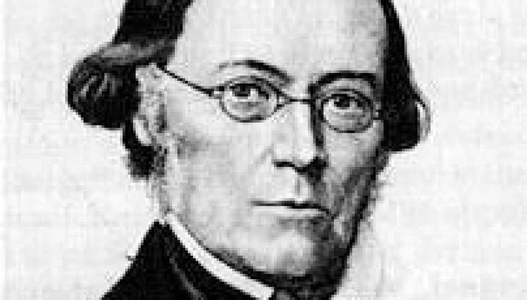Dikterpresten og folkeminnesamleren Magnus Brostrup Landstad (1802-1880) (Foto: Public domain)