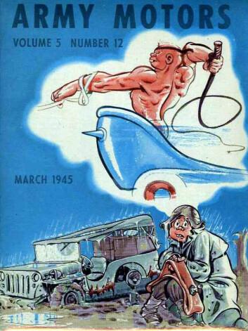 """Forside av Army Motors, med John Dope, tegnet av William """"Will"""" Eisner (Bilde: U.S. Army)"""