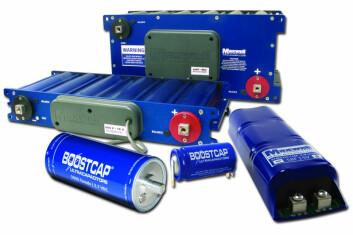 Ultrakondensatorer (Foto: Maxwell Technologies, GNU Free Documentation License)