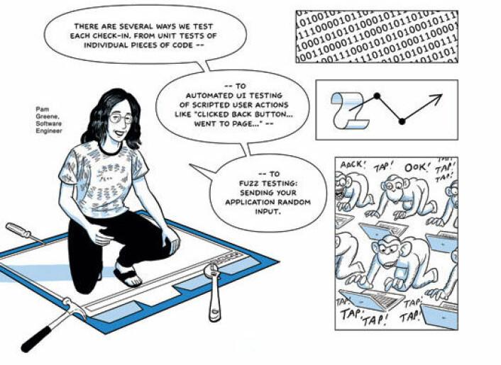 Fra tegneserien Chrome, av Scott McCloud (Bilde: Scott McCloud/Google, Creative Commons, se lisens)
