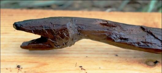 Hvem lagde denne slange-staven for rundt 4000 år siden?