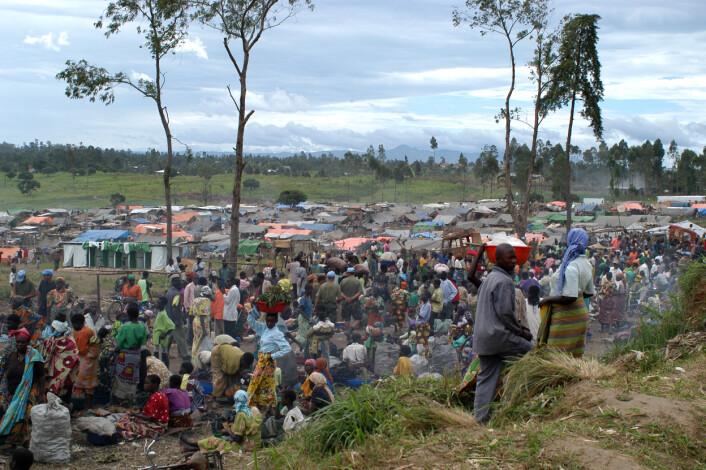 Flyktingeleir i Øst-Kongo (Foto: © EC/ECHO/François Goemans)