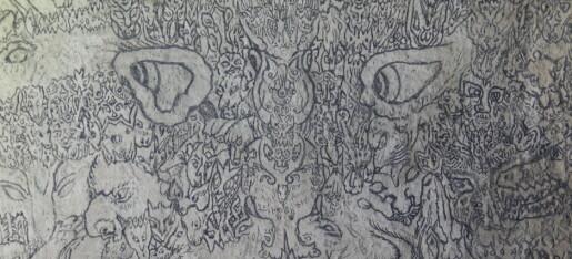 Konservatoren malte selv den oppsiktsvekkende demonveggen