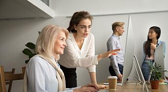 Eldre arbeidstakere får ikke like avanserte arbeidsoppgaver som yngre