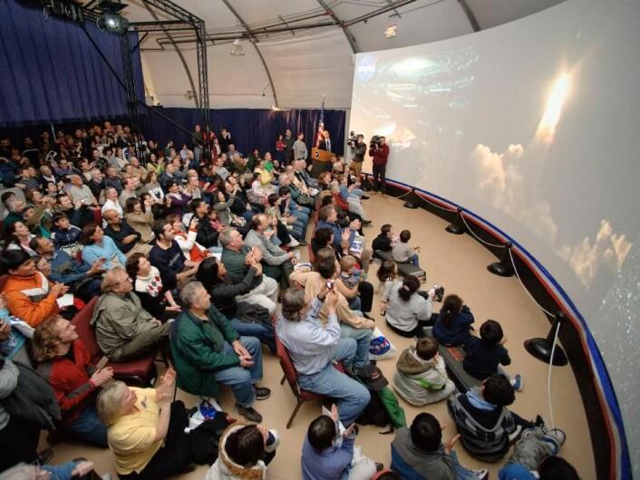 """""""Bildet er tatt under oppskytningen av Keplerteleskopet tidligere i år. (Foto: NASA Ames Research Center / Dominic Hart)"""""""