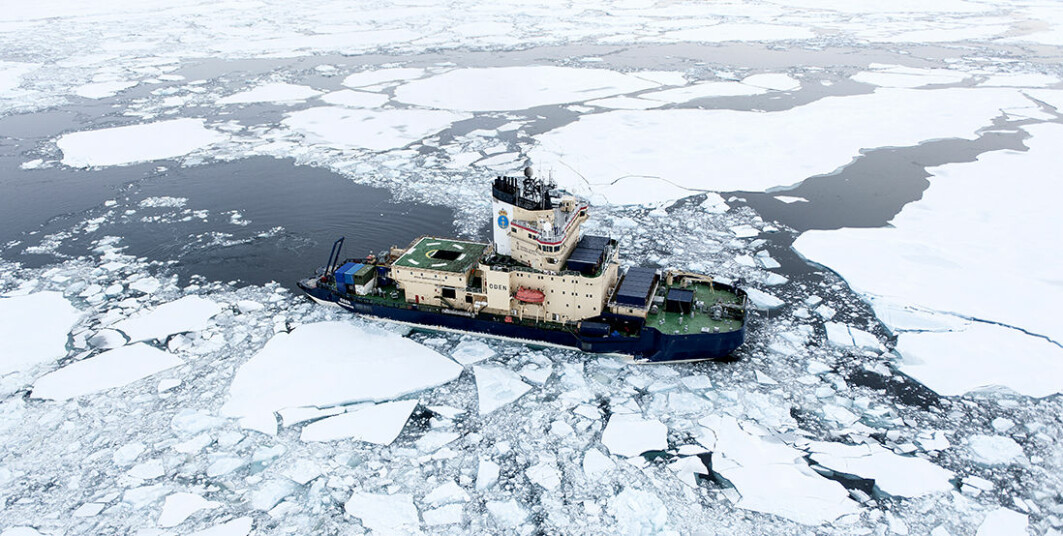 The Swedish icebreaker Oden during a research cruise. But what kind of ice is it in?