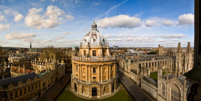 """""""University of Oxford er et av verdens ledende universiteter. Nå skal forskningsfinansieringentil universiteteti sterkere grad vurderes ut fra hvor nyttig den er for samfunnet. (Illustrasjonsfoto: iStockphoto)"""""""