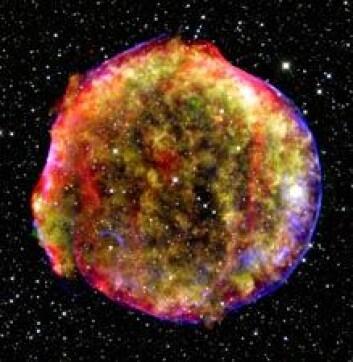 """""""Noen blir kanskje bekymret over tanken på en supernova i vårt eget nabolag, men astronomene lengter etter nettopp en slik hendelse. (Illustrasjonsbilde:MPIA/NASA/Calar Alto Observatory)"""""""