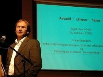 """Professor Stein Knardahl bryter ny grunn med sin undersøkelse """"Den nye arbeidsplassen"""". Foto: HiO"""
