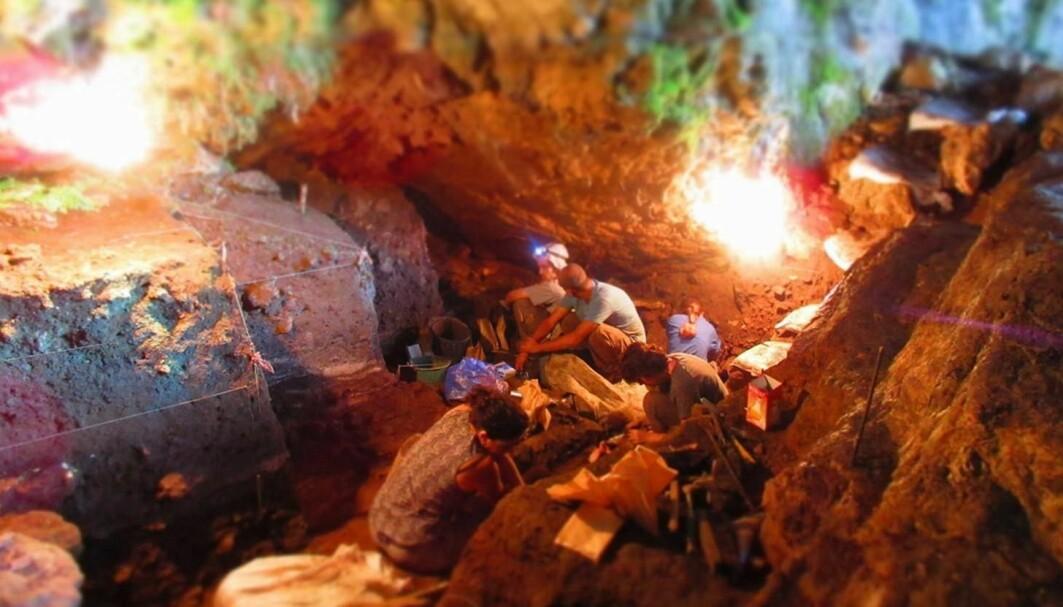 Forskere har analysert jordprøver fra Satsurblia-hulen i Georgia.