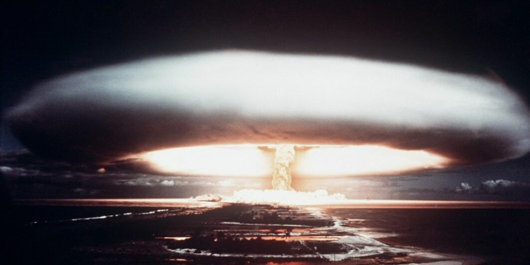 France carried out 193 nuclear tests in the Pacific. The explosion in this image occurred in 1971.