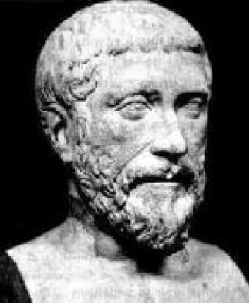 """""""Den greske mystikeren og matematikeren Pythagoras fra Samos (ca 569-475 f.Kr.) var en av oldtidens store vitenskapsmenn."""""""