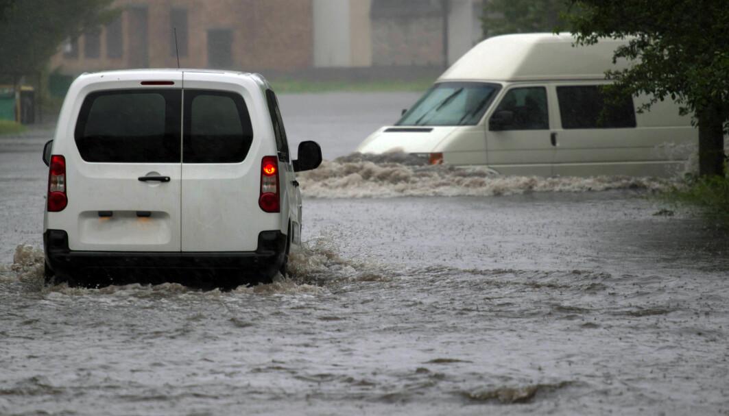 Intenst, saktegående regnvær kan bli 14 ganger mer vanlig i Europa, viste modellering.