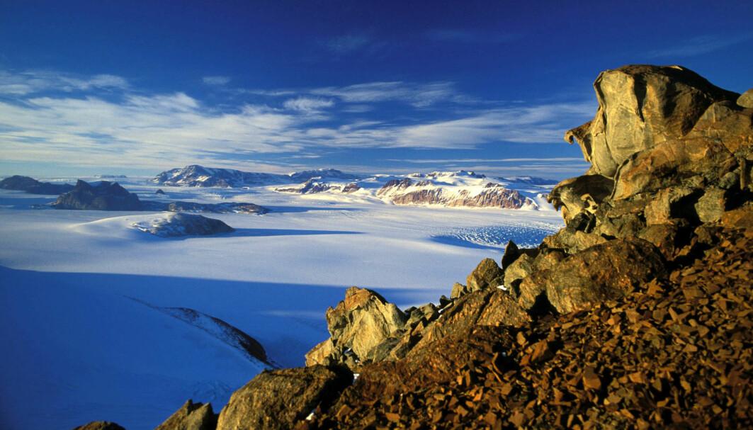 Bilde fra den Transantarktiske fjellkjede.