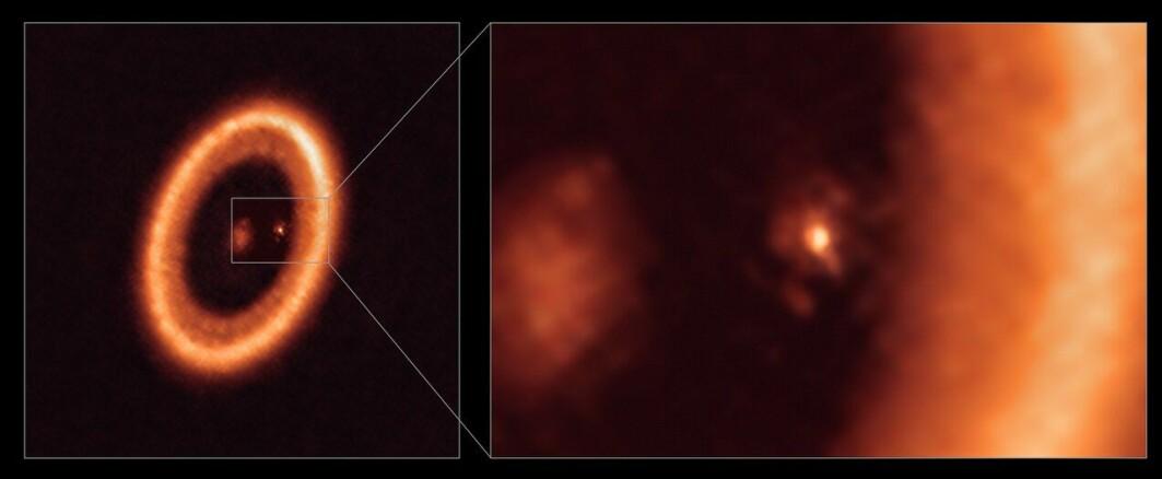 For første gang har forskerne funnet et annet solsystem som er i ferd med å dannes. Solsystemet ligger 400 lysår unna.