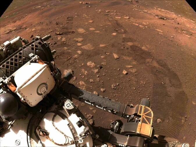 På Mars er det også kaldt, tørt og fullt av salter. Her er Perceverance som leter etter tegn på liv på planeten.