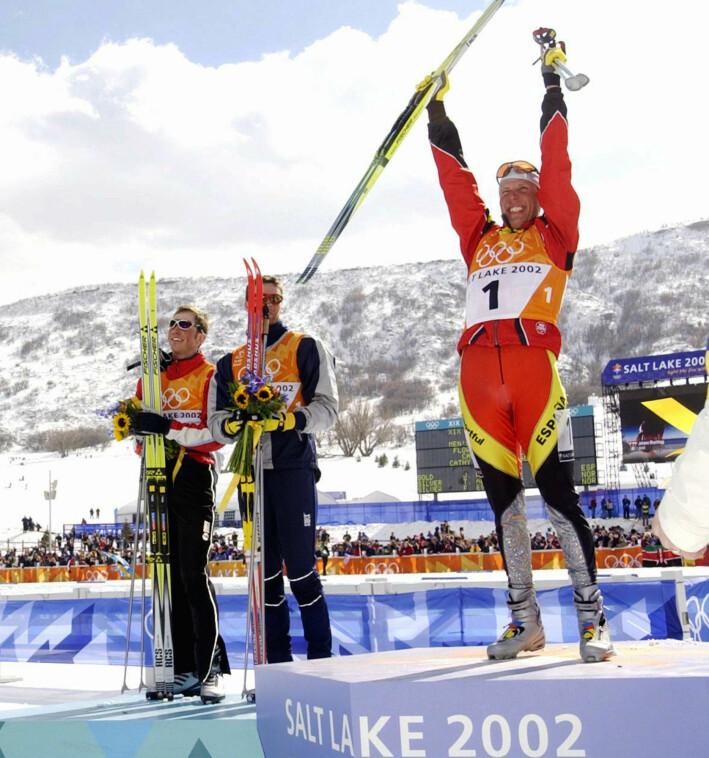 Frode Estil og Thomas Alsgaard delte gullet på herrenes jaktstart under OL i Salt Lake City. Men gullmedaljene fikk de tilsendt i posten etter at Johann Mühlegg ble tatt for doping.