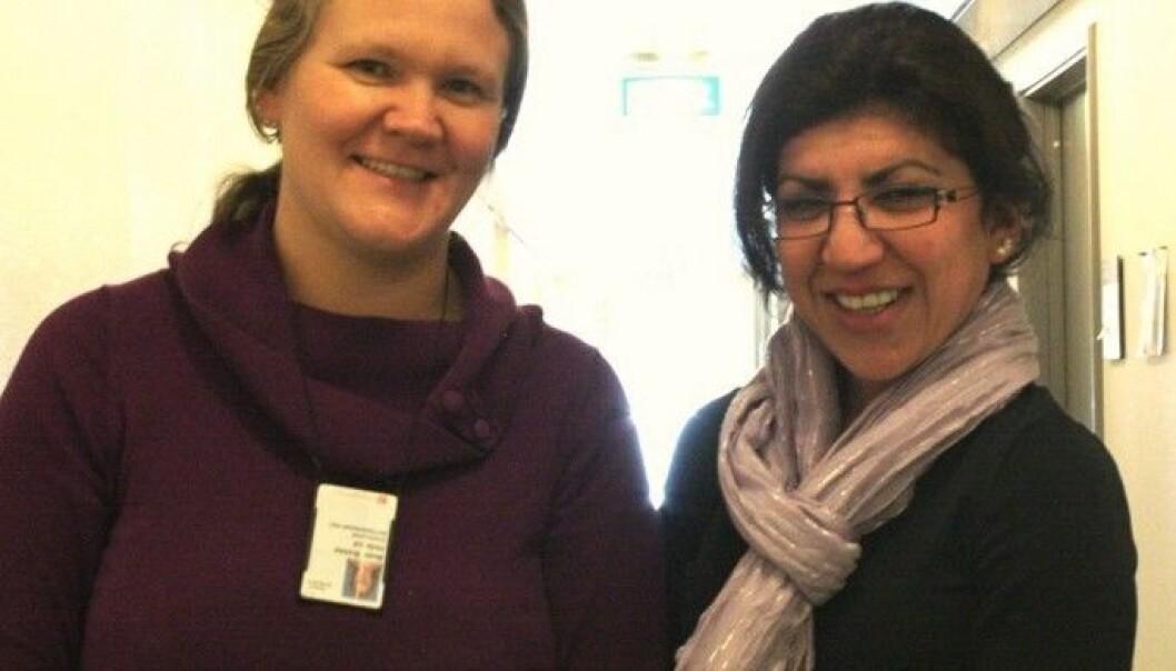 Beate Brekke Hellerud og Mariam Bouzga (Foto: Marianne Nordahl)