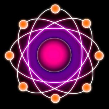 Elektrona som svirrer kring kjernen i eit atom er omtrent så trill runde som det går an å bli avslører nye målingar. (Illustrasjon: Per Byhring)