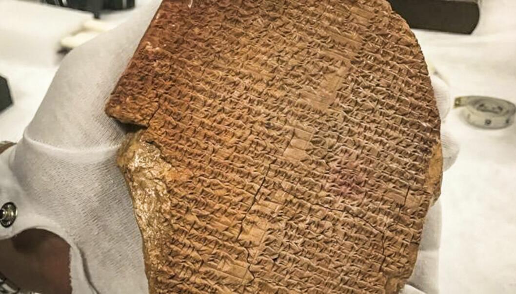 En av de mest verdifulle gjenstandene som nå blir returnert fra USA, er en 3500 år gammel steintavle der en sekvens fra det episke diktet Gilgamesj er nedskrevet.