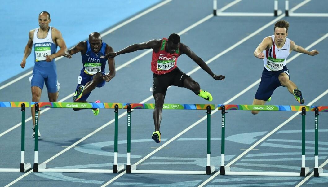 Karsten Warholm ble slått ut i semifinalen i OL i Rio. I natt løper han for gull.