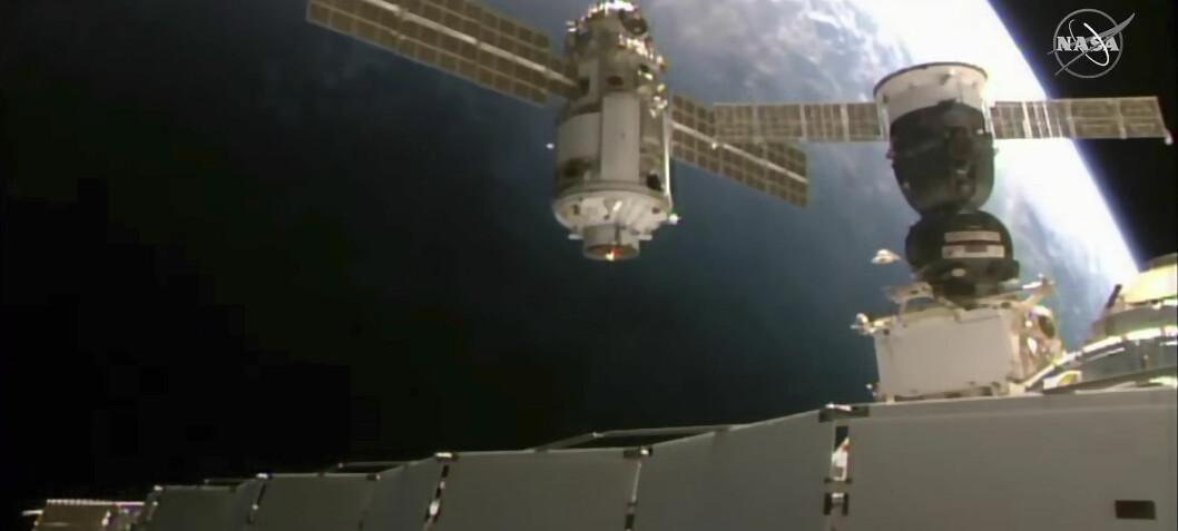 Den internasjonale romstasjonen havnet ut av posisjon