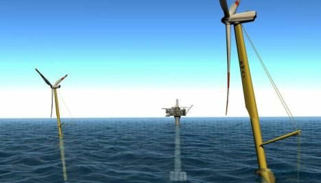 """""""Sway og andre gigantiske offshore vindparker kan forsyne så vel offshoreinstallasjonene som fastlandet med store mengder elektrisk kraft."""""""